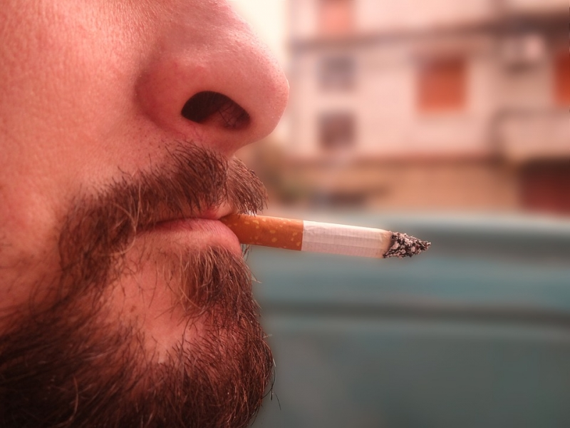 Cigarette-in-the-mouth