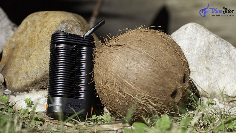 The Crafty Portable Vaporizer by Storz and Bickel with coconut