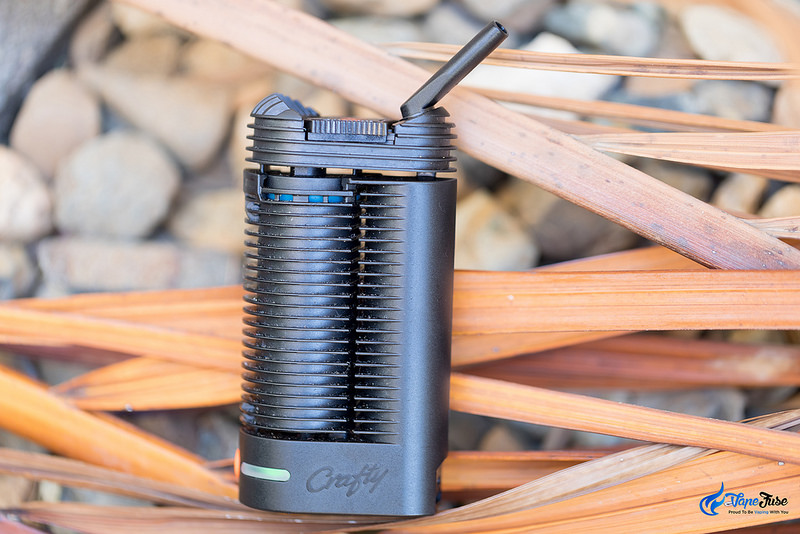 Crafty portable vaporizer and palm leaves
