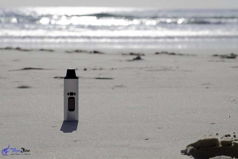 WOW Portable Vaporizer on the beach
