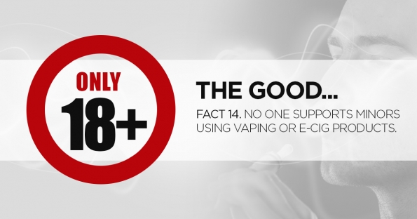 Vape stores and suppliers DO NO SUPPORT underage vapers