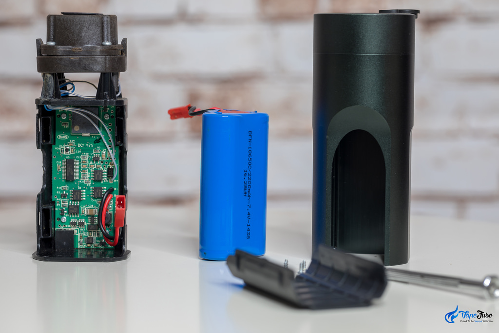 Battery taken out from the Arizer Solo portable vaporizer