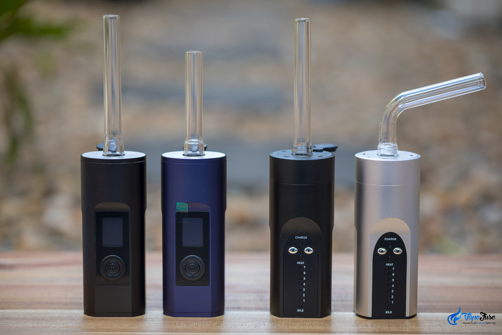 Arizer Solo vs Solo II portable vaporizers with Aroma Tubes