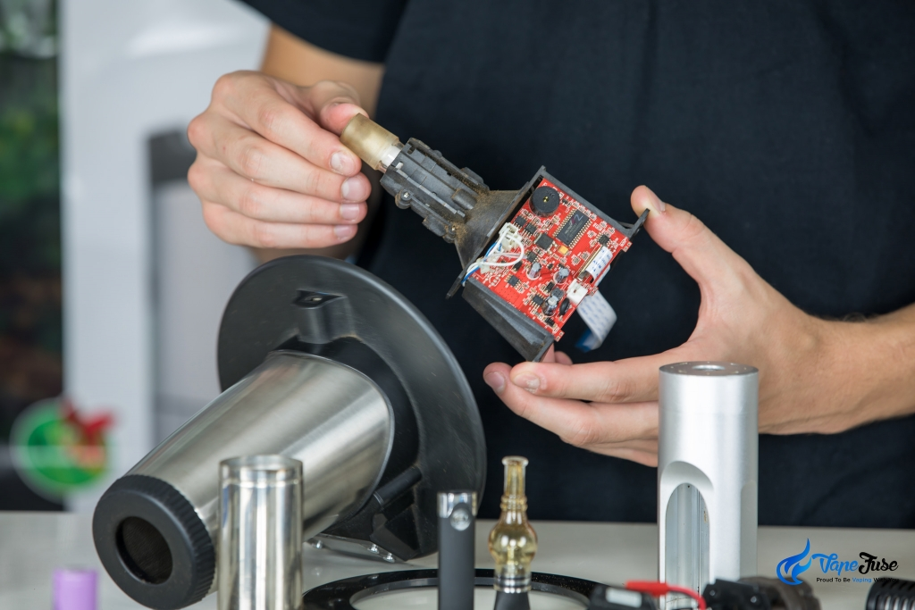 Arizer V-Tower desktop vaporizer taken apart