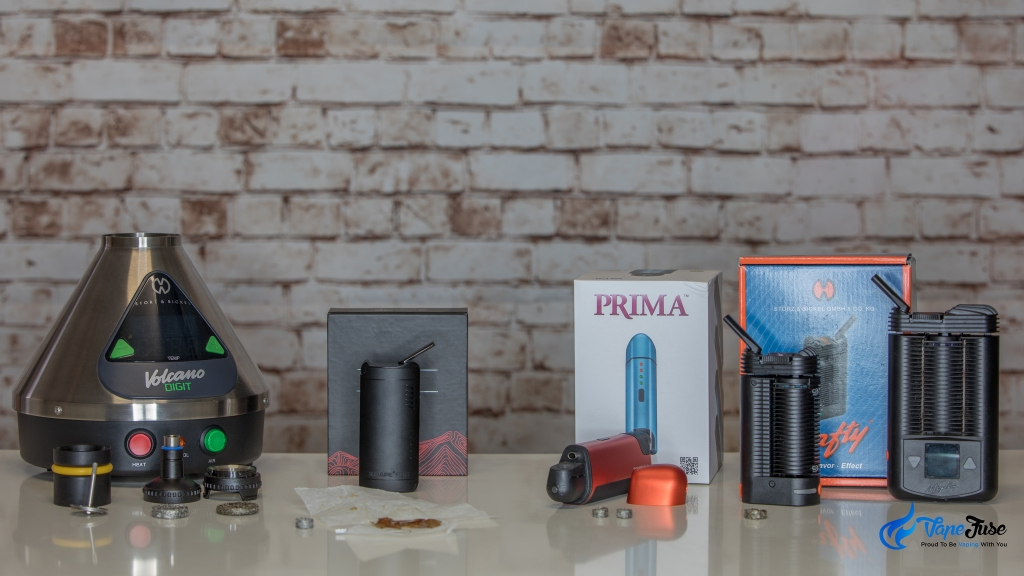 Dry herb vaporizers with liquid pad