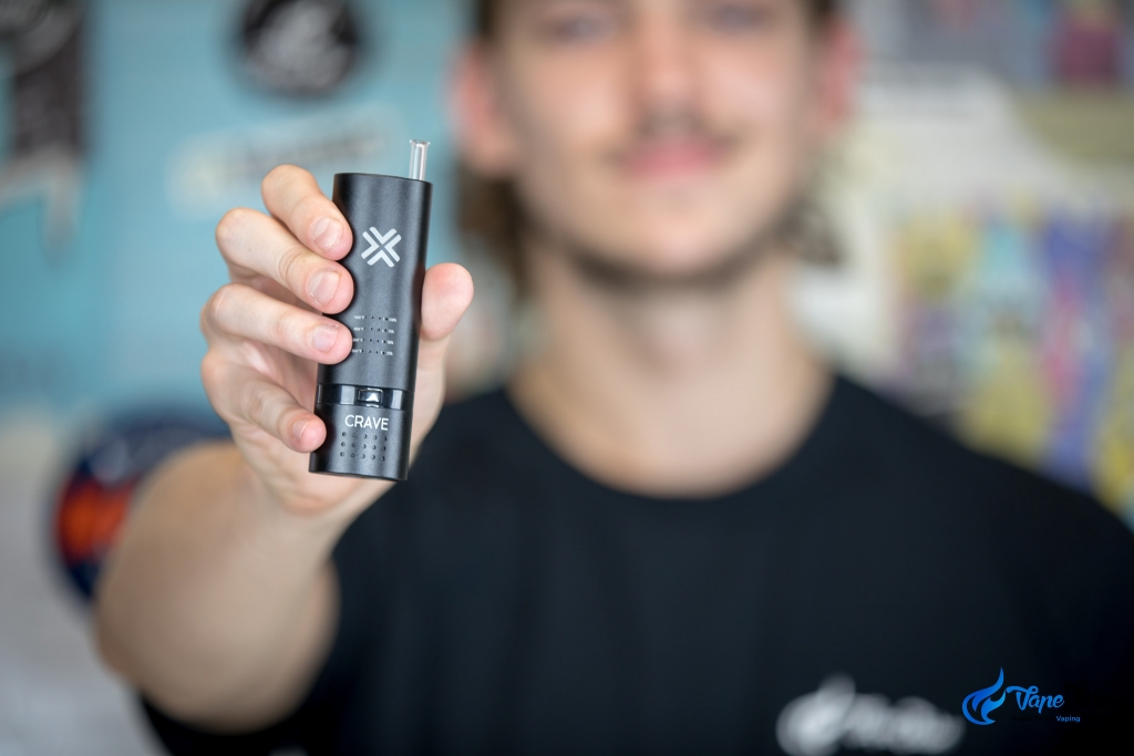 Crave Cloud Portable Vape in Matt's hand