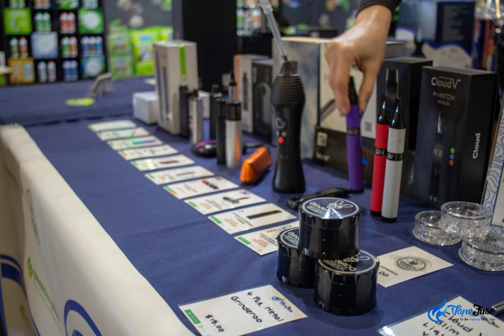 Vapes at the VapeFuse Booth - Sydney Hemp Health & Innovation Expo2018