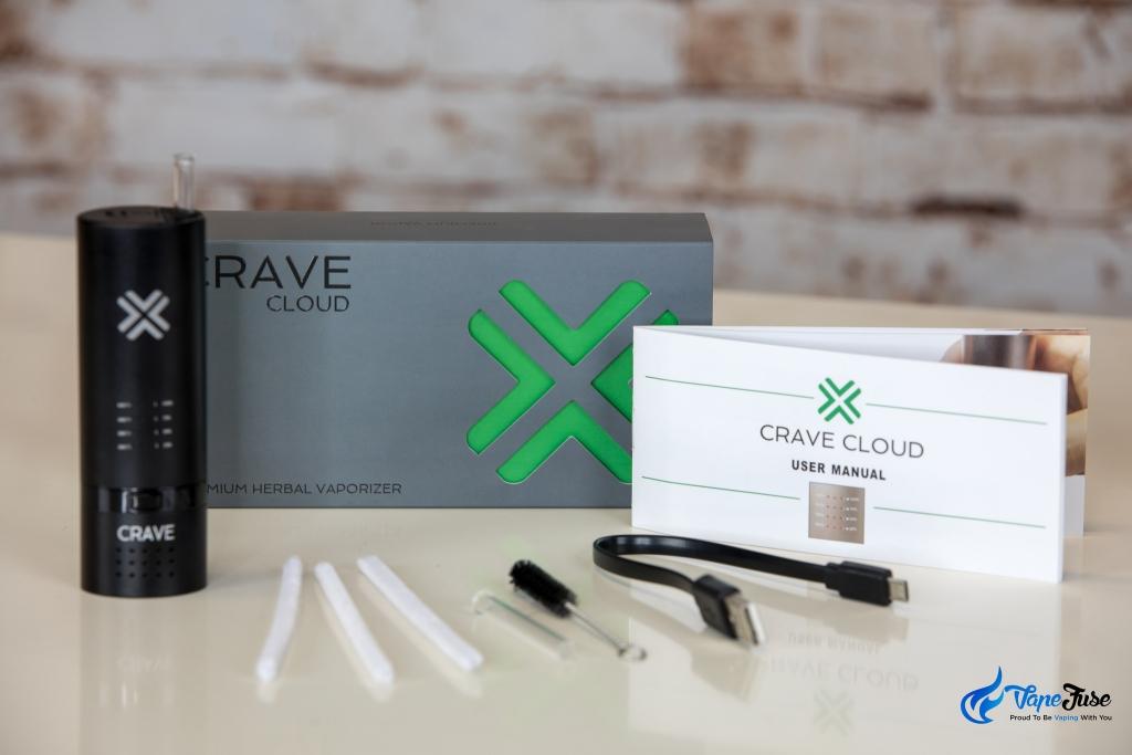 Crave Cloud portable vape inclusions