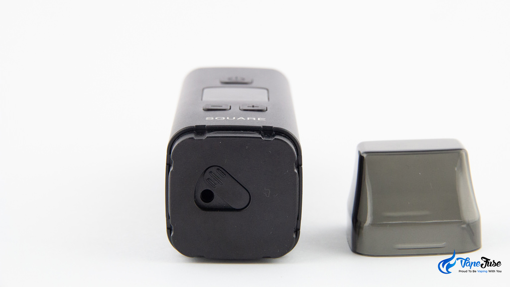 Square Dual Mode Digital Portable Vaporizer- air path fully open