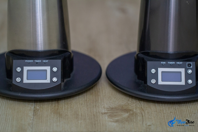 Arizer Extreme Q vs V-Tower Display Panels