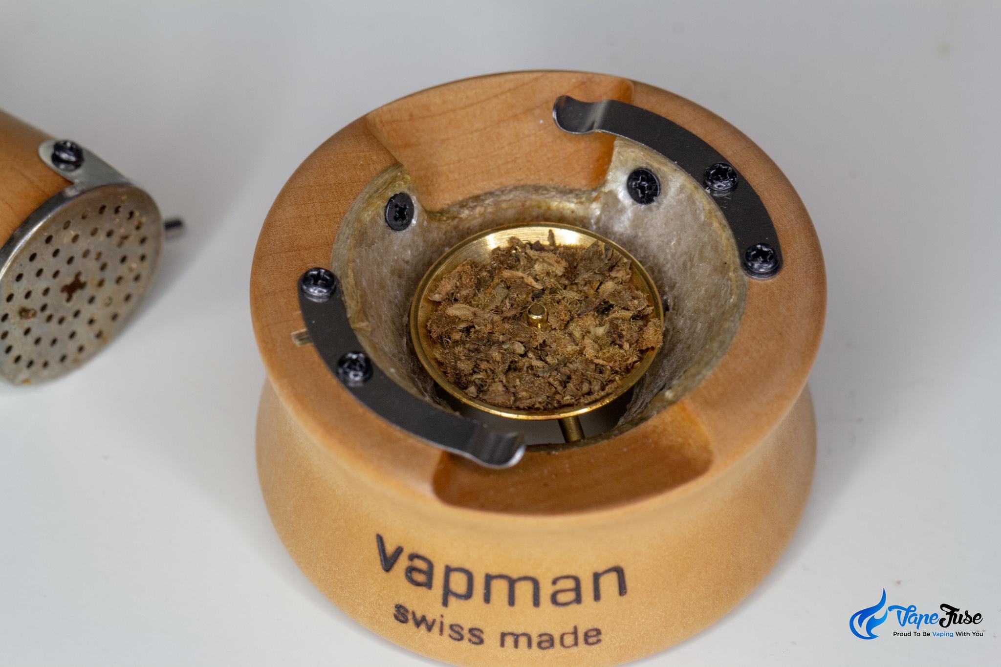 VapMan Vaporizer spent chamber