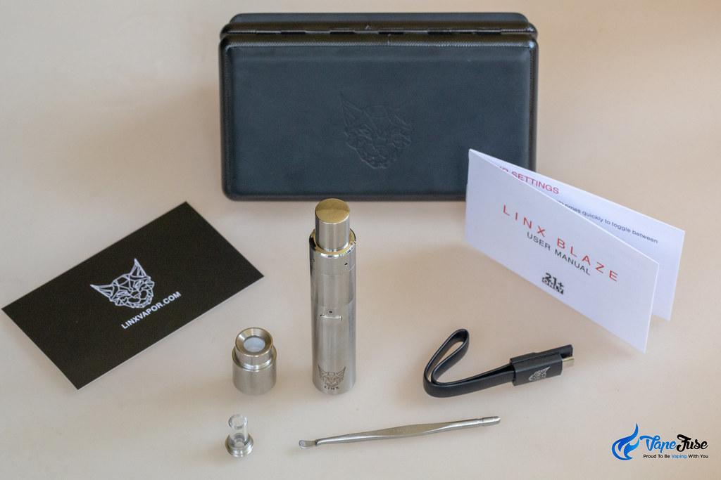 Linx Blaze Wax Vaporizer what's in the box