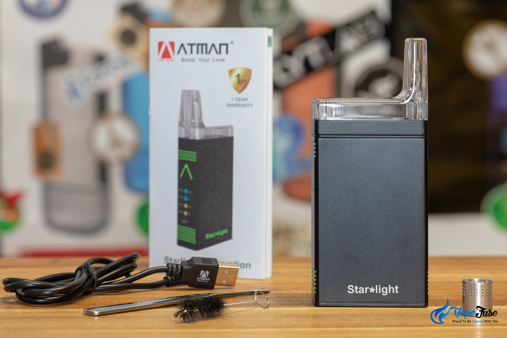 Atman Starlight Portable Vaporzier What's in the box